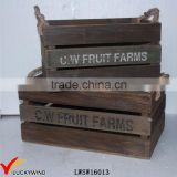 Farm Style Vintage Recycle Wood Fruit Crate                                                                         Quality Choice