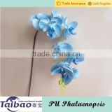 Hot sale made in China PU material artificial blue butterfly orchid