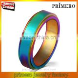Fashion Rotating Spinner Ring For Women Stainless Steel Ring With Rainbow Gay Men