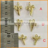 Shark Teeth Charms - Tiny Gold Sea Charms-Shark Tooth Charm