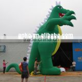 Life-size inflatable dinosaur model for display