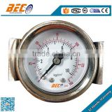 (Y-40BD) 40mm black steel case center back panel mounting with clamp style mercury manometer pressure gauge meter