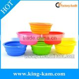 Silicone pet bowl for outdoor use