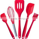 5pcs Silicone Baking Set Kitchen Accessories Cooking Tools Utensils Whisk Basting Brush Spatulas Turner