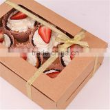 cardboard cake packaging box with a satin ribbon
