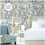 stock lot printing pvc coated wallpaper, for kids architectural wall mural for children , magnificent wall mural brands