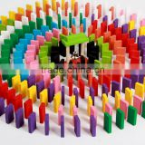 New design 12colors and 120pcs Wooden Domino Toys Educational Toys                                                                         Quality Choice