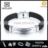New arrival fashion silicone bracelet wristband factory price                                                                         Quality Choice