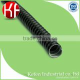 25mm Black PVC coated flexible corrugated electrical conduit pipes
