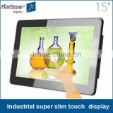 "15"" LED LCD display capacitive touch screen , touch screen android 3g advertising, POP sofaware digital advertising tv screen"