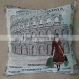 jacquard cushion polycotton cushion for home &hotel decoration &promotion&gift &supermarket retail---ROMA