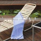 Adjustable Alu frame PVC plastic sun lounger, outdoor chaise lounge, beach plastic sun lounge
