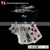 Custom Back Jumbo Index Plastic Playing Cards, Waterproof Poker Cards