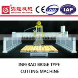 ZDZQ-1200 infrared/laser hydraulic automatic Stone Bridge type cutter for granite/marble/block