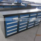 Manufacture workshop heavy duty steel workbench drawer tool cabinet