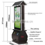 OEM Solar Power Advertising Lightbox+Insect Killer+Ash Bin+LED Display Screen,Solar Billboard Box