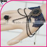 fashion jewelry bracelet Vintage lace bracelet with ring The black pearl latest style fashion bracelets