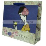 custom printed luxury craft paper clothing shop jumbo packaging cloth carry handles hand tote bag
