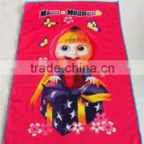 polyester fabric cartoon characters set microfiber towel transfer printing kitchen towel China supplier wholesaler