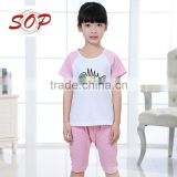 Children cotton t shirt girl sport clothes sets professional kids outfits factory supplier