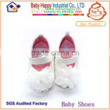 China Shezhen factory name brand baby shoes wholesale satin flower