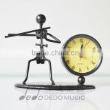 Violin Metal crafts clock decorations