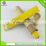HB yellow promotional recycled paper pencil