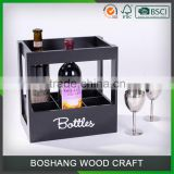 2 Bottle Wooden Wine Boxes For Shipping Wine Glasses
