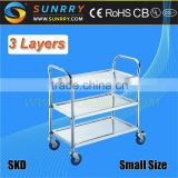 2015 New Design Fast Food Cart/bbq Trailer And Food Cart Manufacturer And Designer 3 Layers For Sale