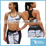 Professional high impact fitnss wear womens running padded camo sexy sports bras                                                                         Quality Choice