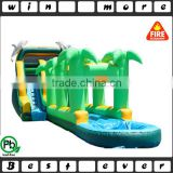 commercial inflatable water slide for child and adult, tropical n dolphin giant inflatable water slide for sale