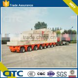 8 axles 100-200 tons hydraulic self steering Modular trailer with power station gooseneck