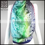 2015 New Design 100% Silk turkish square scarf wholesale