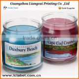 Christmas candle printing sticker custom candle sticker for candle jar