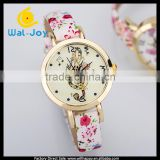 WJ-5203 hot sale different face stylish quartz fancy butterfly leather beautiful student girls watches