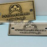 OEM High qualtity copper brand badge made in china