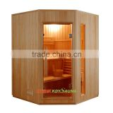 Factory supplier outdoor & indoor Dry steam red cedar wooden sauna room