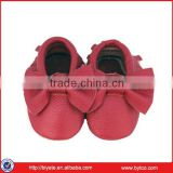 Baby moccasin,tassel fashion lovely genuine leather baby shoes oem welcomed