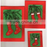patchwork handmade paper greeting cards on christmas themes for events, holidays, promotions, giveaways , festivals