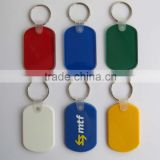 HEYU plastic soft pvc rectangular soft rubber key tag with keychain