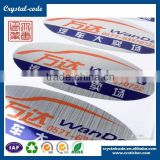 Custom matt laminated gloss sequence number square 3d hologram anti-counterfeit silver PET sticker