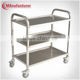 Small Size Restaurant Stainless Steel Tea & Beverage Trolley/Dining Serving Food Cart
