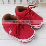 2014 classic fabric upper casual toddler red shoes with lace
