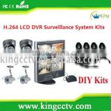new 4CH LCD H.264 triplex real time Economical DVR System Kits 3G Mobile phone (HK-S1504M)