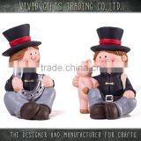 Ceramic New Year chimneyman sitting decoration for home