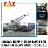 TOP Civil engineering equipment, Bored piles in CFA spiral machine piling rig,FAR250 Hydraulic long Spiral drill rig