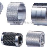 top quality cnc machined parts with knurling knurled dowel pin/knurled nut/bolt/rod