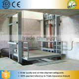 Guide rail hydraulic china lift platform/used cargo goods elevator/hydraulic lift machine