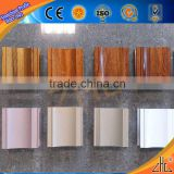 Hot! Large wholesale high definition wood color aluminum wooden window frames profile with extruded aluminum signs