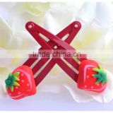 strawberry polymer clay hair clips for girls